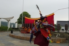 Sechs tibetische Mönche zu Gast